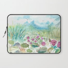 Florida Everglades landscape Watercolor Laptop Sleeve