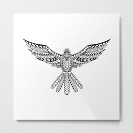 Dove Tribal Tattoo Metal Print