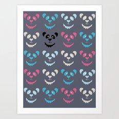 Panda Commotion Art Print