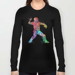 Baseball Softball Catcher 3 Art Sports Poster Long Sleeve T-shirt