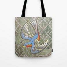 Sparrow tattoo Tote Bag