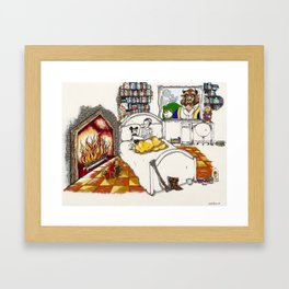 Books Coming to Life: Beauty and the Beast Framed Art Print