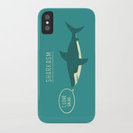 Sharkasm iPhone Case