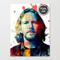 eddie vedder Canvas Prints featuring Nothingman (Eddie Vedder of Pearl Jam) by Art By MOP$