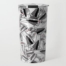 Air Jordan 3 White Cement - Collage Print Travel Mug