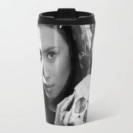 Dia de los Muertos Catrina Black and White Travel Mug