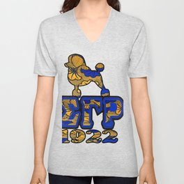 Sigma Gamma Rho African Print with Poodle and 1922 Unisex V-Neck