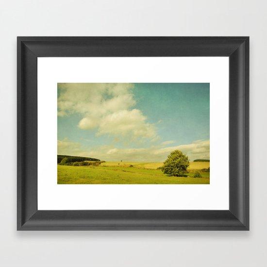 Where the wind blows Framed Art Print