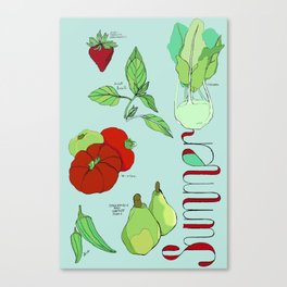 Fresh from the Farmers Market: Summer Canvas Print