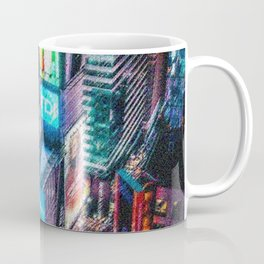 Times Square New York City Neon Lights Nighttime Landscape Painting by Jeanpaul Ferro Coffee Mug