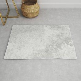 Grunge white gray marble Rug
