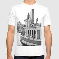 Savannah Steamboat White MEDIUM Mens Fitted Tee