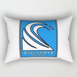 Big curve logo Rectangular Pillow