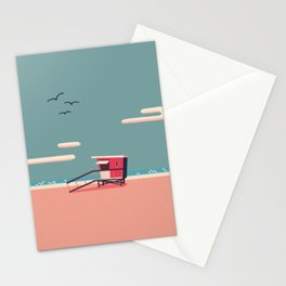 life guard tower Stationery Cards