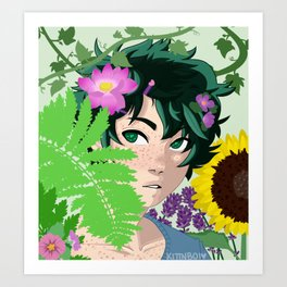 Florist AU Izuku Midoriya Art Print