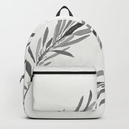 Eucalyptus leaves black and white Backpack
