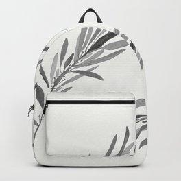 Eucalyptus leaves black and white Backpack