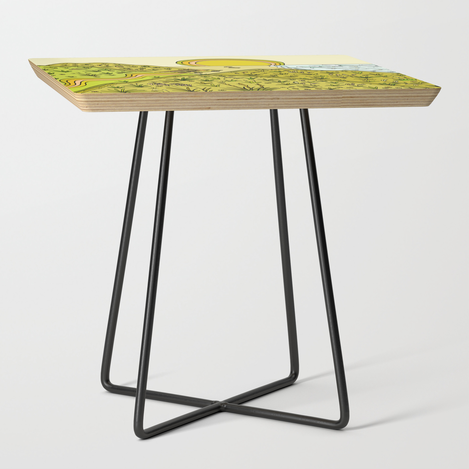 Keen For A Surf Nz Surf Adventure By Surfy Birdy Side Table By Surfybirdy