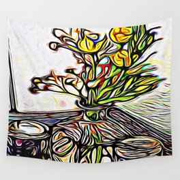 Shadow Flowers Wall Tapestry