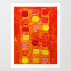 Tiled Orange  Art Print