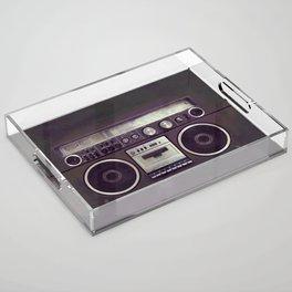 Retro Boombox Acrylic Tray