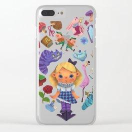 Alice in Wonderland Heart Clear iPhone Case