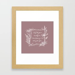 Cast Your Anxiety Wildflower Frame Bible Verse Framed Art Print