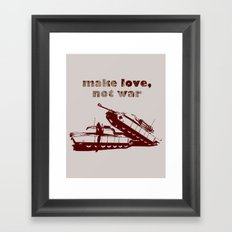 Make love, not war! Framed Art Print