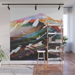 Abstract Mountains II Wall Mural