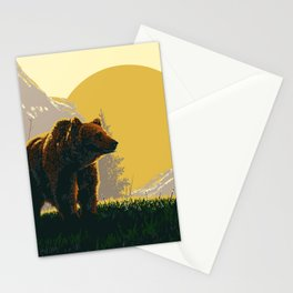 Early Morning Grizzly Bear Stationery Cards