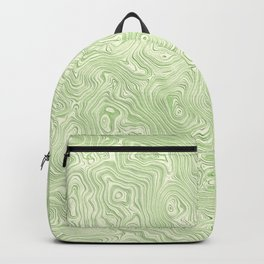 Lime Green Silk Moire Pattern Backpack