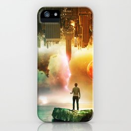 The World Upside Down iPhone Case