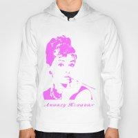 audrey hepburn Hoodies featuring Audrey Hepburn by Walter Eckland