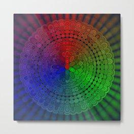 RGB Mandala Metal Print