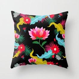 Lotus flower pattern artwork Throw Pillow