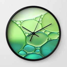 Jade Ombre Bubbles Wall Clock