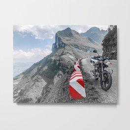 Motorbikes + Mountains Metal Print