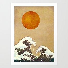 Stormy Sea - Kubistika by Boris Draschoff Art Print