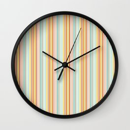 Striped Up Wall Clock