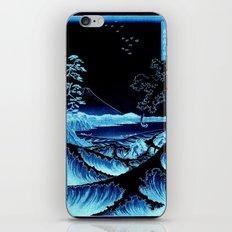 The Sea at Satta : Blue iPhone Skin