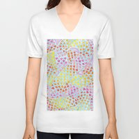 scales V-neck T-shirts featuring RAINBOW SCALES by shutupbek
