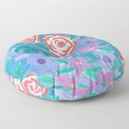 Dreamy Rose Garden Nights Floor Pillow