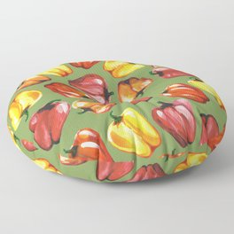 Bell Peppers Pattern Floor Pillow