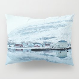Houses by the water reflect Pillow Sham