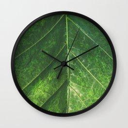 Botanical Gardens Leaf #101 Wall Clock