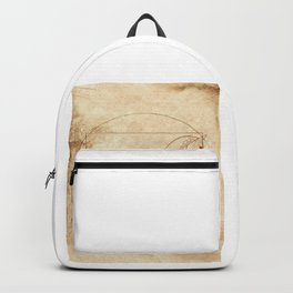 Da Vinci Horse In Piaffe Backpack