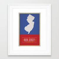new jersey Framed Art Prints featuring NEW JERSEY by Matthew Justin Rupp