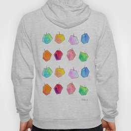 We Love Our Colors, Why Not? (Apples) fruit pattern food colorful illustration kitchen art unique Hoody