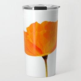 One And Only - Orange Poppy White Background #decor #society6 #buyart Travel Mug