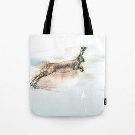 Run, hare, run Tote Bag